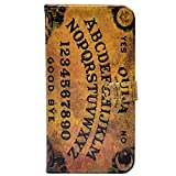 iphone 7 Case - Unique Ouija Board Spooky Pattern Slim Wallet Card Flip Stand PU Leather Pouch Case Cover For Apple iphone 7 New Arrival - Cool as Great Gift