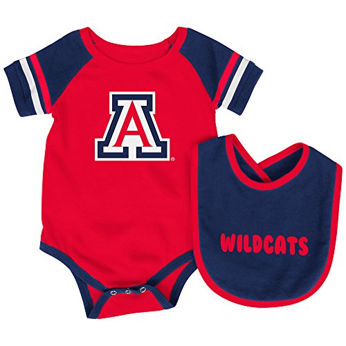 - Arizona Wildcats Infant Roll-Out Onesie and Bib Set 3-6 Months