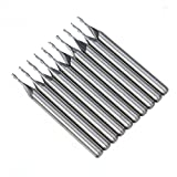 1mm 2 Two Double Flute Carbide Flat Nose End Mills Router Bit 4mm CEL 10 Pack