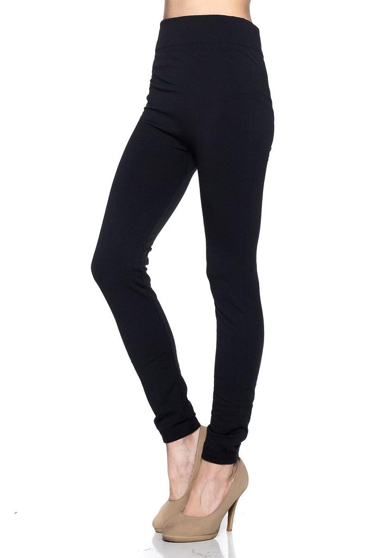 9e420c5a83c450 NELLA FANTASIA Womens Black Warm Soft Fleece Lined Pants Leggings at Amazon  Women's Clothing store: