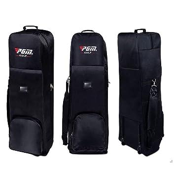 Bolsa de golf Aviatin para Golf Air, acolchada gruesa, funda de viaje con ruedas, 5 colores (HKB001), negro: Amazon.es: Deportes y aire libre