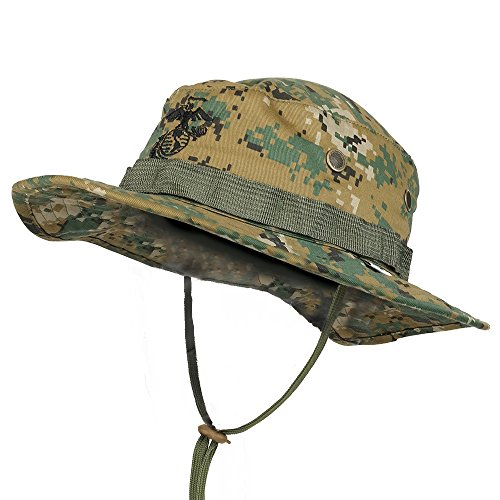 Kids Camouflage Caps (Trendy Apparel Shop Kid's Youth Size Camouflage boonie Cap With String Chin Cord - Woodland)