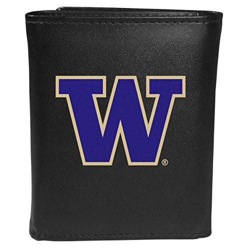 (Siskiyou Sports NCAA Washington Huskies Tri-fold Wallet Large Logo, Black)