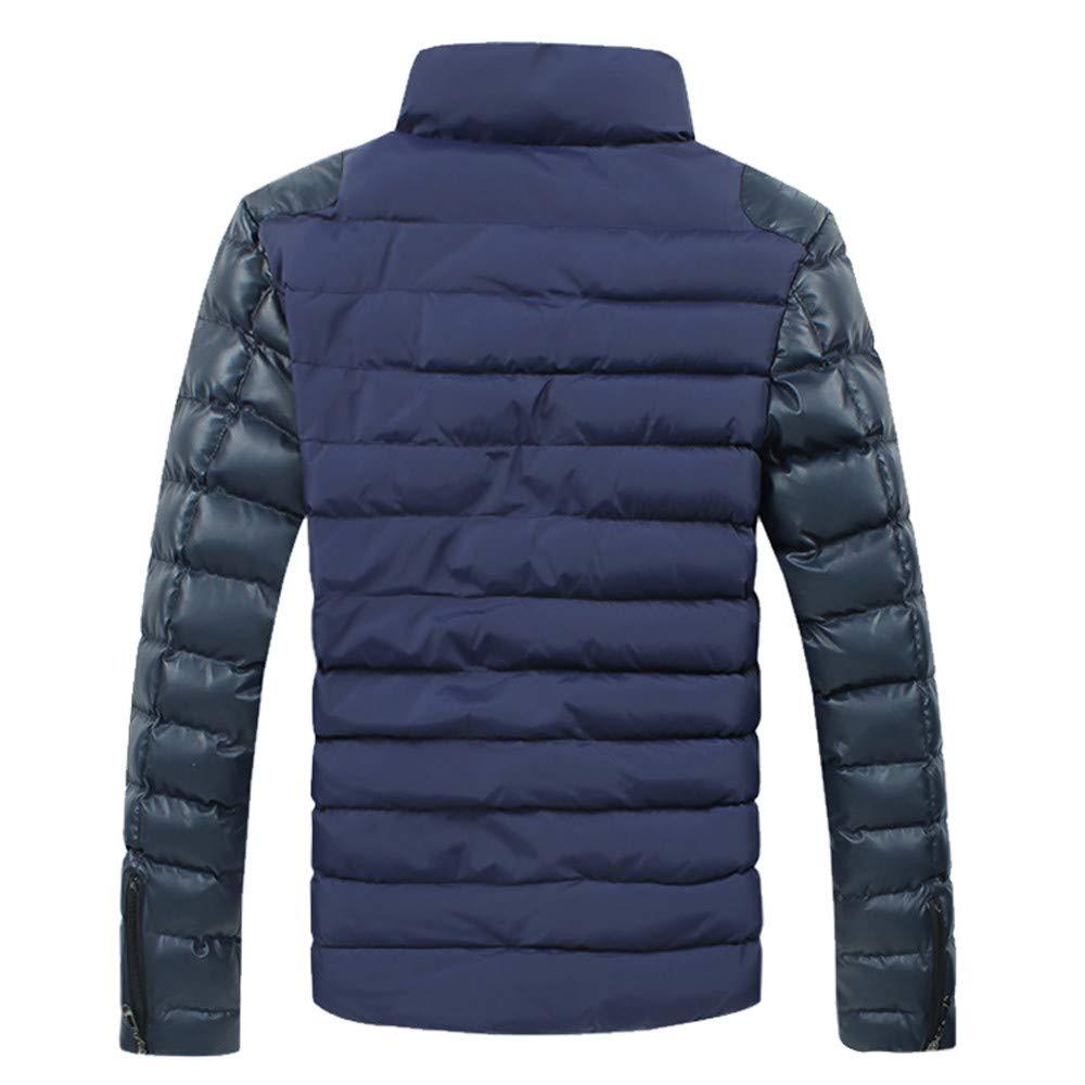 Longra ☂☂❤ ❤ Abrigo Plumas Hombre,Cuello de Soporte de Costura Chaqueta Engrosada Chaqueta de algodón: Amazon.es: Ropa y accesorios