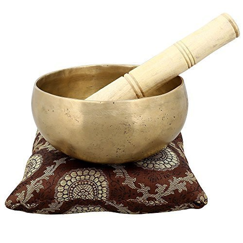 Handmade Singing Bowl Buddhist Bell for Meditation and Healing 6 X 3 Inch