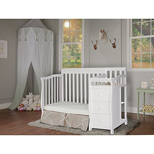 Dream On Me Jayden 4-in-1 Mini Convertible Crib And Changer, White