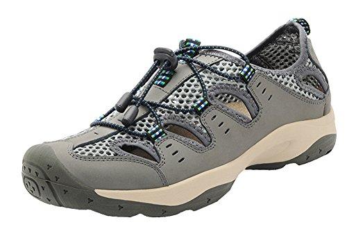 Louechy Hombres Landam Sandalias De Pescador Sandalias Deportivas Al Aire Libre Zapatos De Agua Sandalias De Senderismo De Verano Gris (talón Cerrado)
