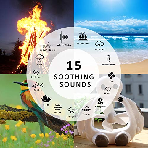 L'émouchet High Fidelity Sound Real Fan Timer Option Memory Rechargeable Battery for Baby, Adults
