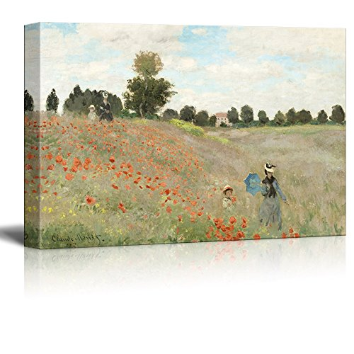 Famous Painting of Poppy Fieldby Claude Monet Gallery