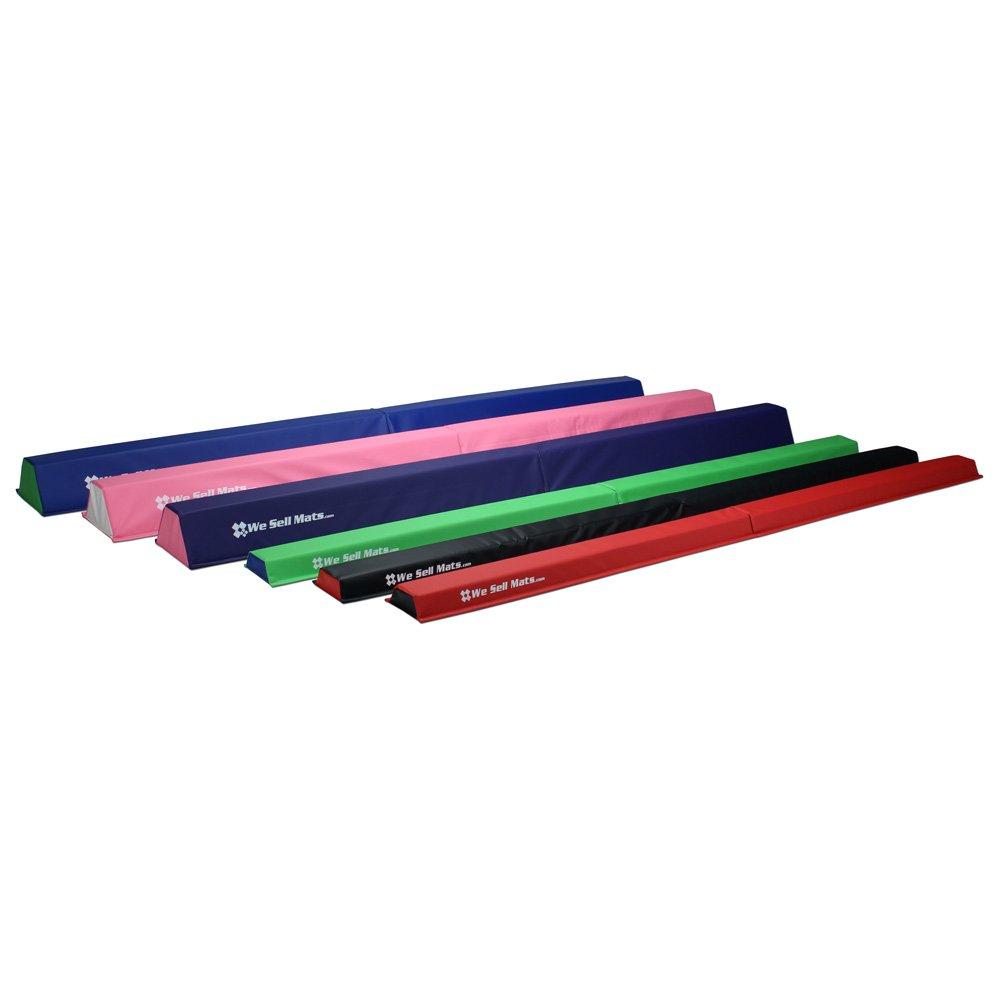 We Sell Mats Firm Folding Practice Foam Gymnastics Balance Beam, Lime Green, 2.5'' x 9'