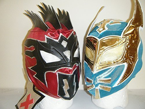 WRESTLING MASKS UK The Lucha Dragons Sin Cara & Kalisto Childrens Zip Up Wrestling Masks (Both (Sin Cara Halloween Costumes)