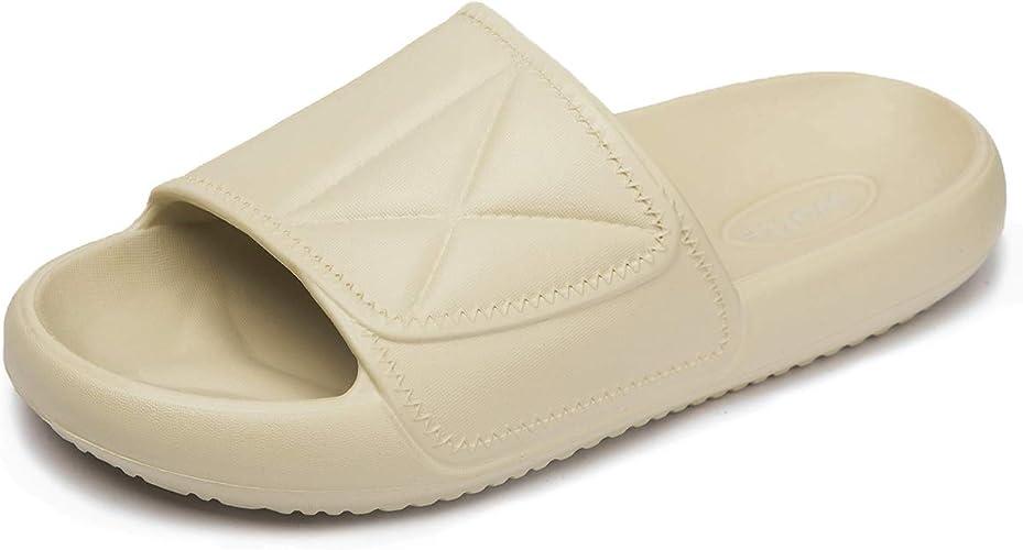 Womens Slippers Soft Slides Slip on EVA Sandals Lightweigt Size 3-10 UK