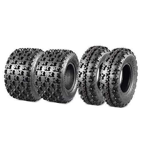 MaxAuto Set of 4 Sport ATV Tires 22X7-10 20x10-9 Quad Tires all Terrain UTV Tires 6PR Tubeless 22X7x10 Front & 20x10x9 Rear Mud Tires
