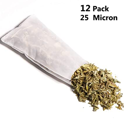 Rosin Press Bags 25 Micron 2in × 4in Double Stitched Patent Reusable micron screen Filter Bags,12 Pack.Zero Blowout Heat Resistant Durable 100% ...