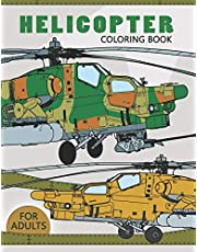 Helicopter Coloring Book for Adults: Large Print Adults Coloring Book Flowers and Mandala Stress Relieving Unique Design
