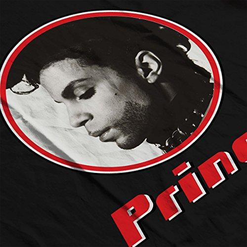 Prince Monochrome Profile Retro Photo Frame Women's Hooded Sweatshirt Black
