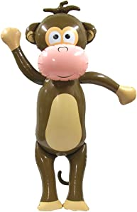 Treasure Gurus Giant Monkey Inflatable Swimming Pool Water Float Large Kids Adults Blow Up Party Toy Zoo Animal