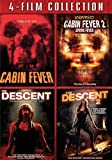 4-Film Collection Cabin Fever/ Cabin Fever 2/ Descent/ Descent 2 [DVD]