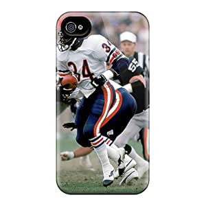 Rugged Skin Case Cover For Iphone 4/4s- Eco-friendly Packaging(walter Payton)