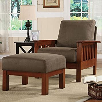 Captivating Home Creek Mission Microfiber Chair