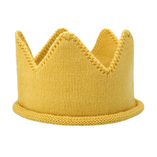 12 Month Old Costume Ideas (Itaar Baby Boy Girl Crown Hat Birthday Warm Soft Knit Crochet Beanie Warm Cap Multicolor)