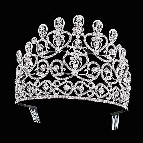 Wedding Crown, Beautiful headdress/Top Ornaments Bridal Crown Hair Ornaments Wedding Accessories Diamond Headwear Wedding Gowns And Accessories. by Junson (Image #2)