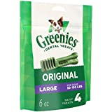 Greenies Original Large Dental Dog Treats, 6 oz. Pack (4 Treats)