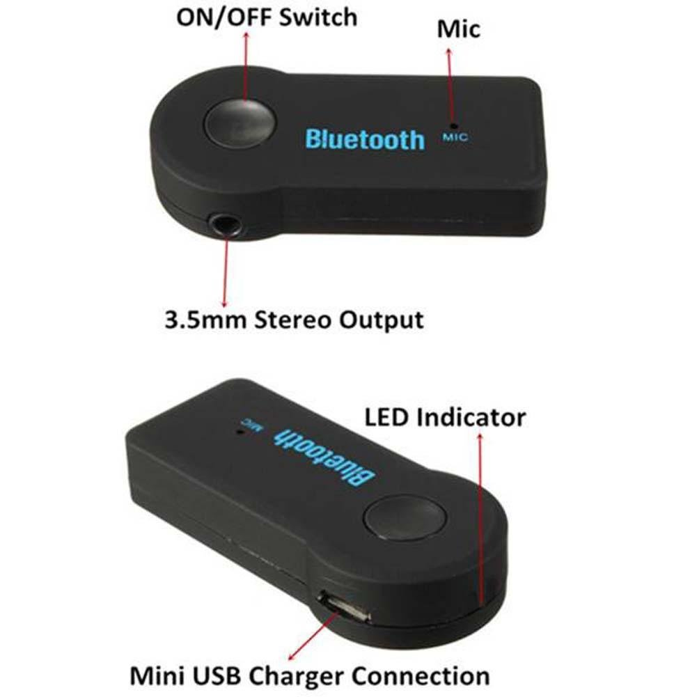 Wireless Bluetooth 35mm Aux Audio Stereo Music Home Mp3 Usb Recever Car Receiver Adapter Cell Phones Accessories