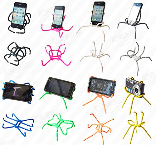 Misskt 10pcs Spiderpodium Tablet Stand, Portable Spider Flexible Cell Mobile Phone Holder Hanging Mount and Stand for iPod iPhone 4/4s/5/5s/6 Samsung Galaxy Andriod Mp4