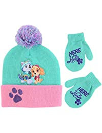 Girls' Toddler Paw Patrol Hat and Mittens Cold Weather...