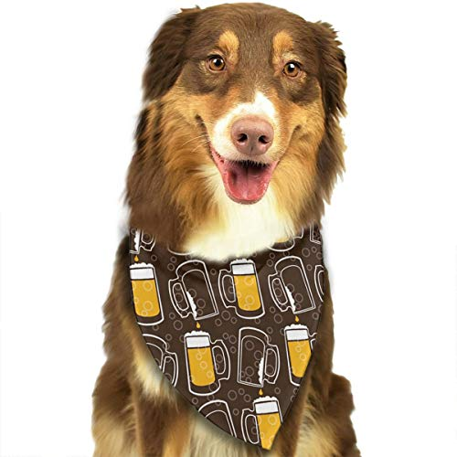 Pet Scarf Dog Bandana Bibs Triangle Head Scarfs Beer Glasses Accessories for Cats Baby Puppy -