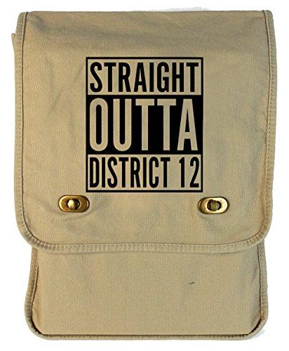 Tenacitee Straight Outta District 12 Putty Canvas Field Bag
