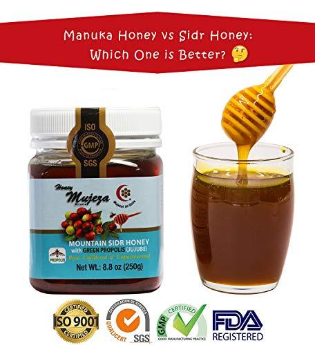 Mountain Sidr Honey (Jujube/ Sader) with Green Propolis, Unheated Unfiltered Unprocessed 100% Natural Raw Honey (250g / 8.8oz)عسل السدر الجبلي - عسل المعجزة - عسل نحل طبيعي