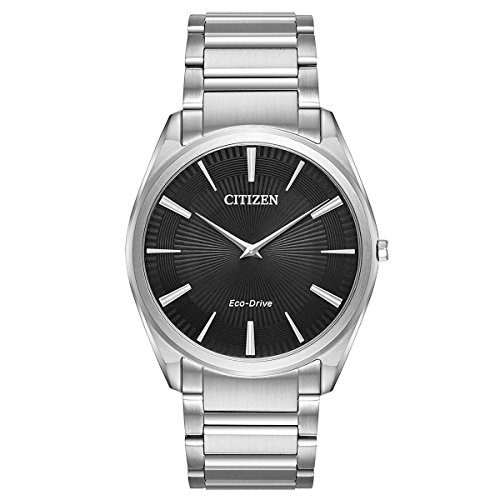 Citizen Stiletto Black Dial Stainless Steel Men's Watch AR3070-55E