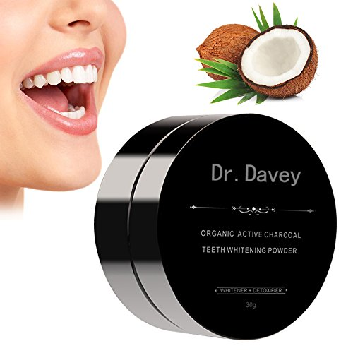 Price comparison product image Dr.Davey Natural Active Charcoal Teeth Whitening Powder-Organic Activated Carbon Coco Tooth Whitener and Stain Remover for Teeth
