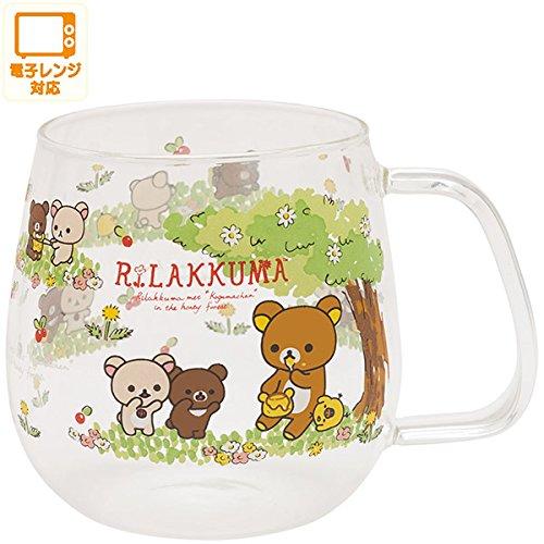 San-X Rilakkuma heat-resistant glass mug cup Korilakkuma and new friends Gao From Japan New (Famous People With Wigs)