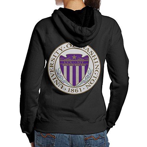 UFBDJF20 University Of Washington Fleece Sweatshirt For Women L Black