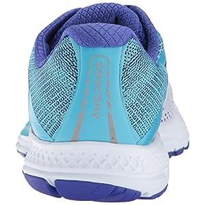 Saucony Women's Ride Running Shoe, White Blue, 10 Medium US
