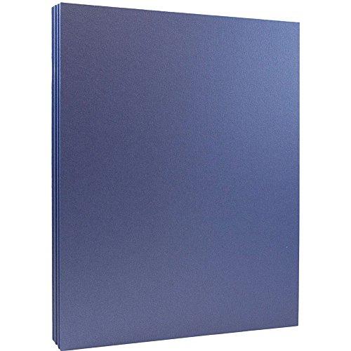 10lb Cardstock - 8.5 x 11 Letter Coverstock - Sapphire Blue Stardream Metallic - 50 Sheets/Pack ()