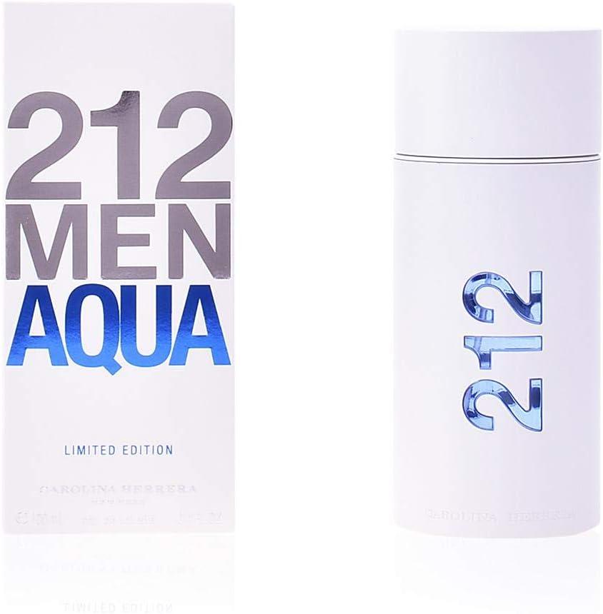 Carolina Herrera 212 Men Aqua Agua de Tocador Vaporizador - 100 ml ...