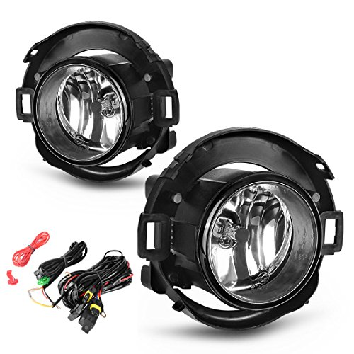 AUTOSAVER88 Fog Light H11 12V 55W Halogen Lamp Clear Glass Lens for 2005-2015 Nissan Xterra Left & Right Side Fog Lamps Pair