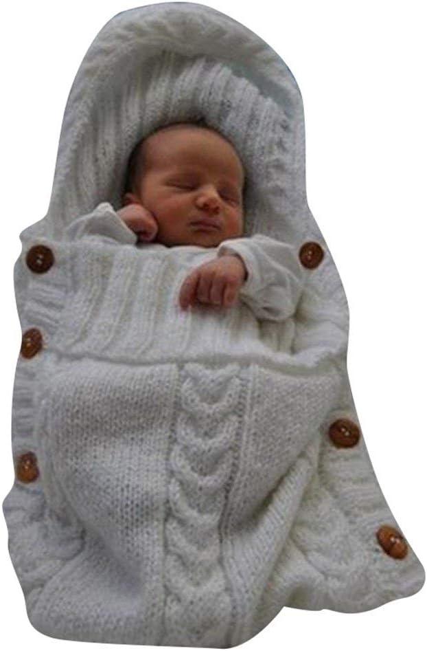 Mariisay Manta Para Bebé Recién Nacida Casual Crochet Chic Knitting Wrap Swaddle Blanket Baby Kids Toddler Knit Blanket Swaddle Sleeping Bag Saco De Dormir Cochecito Para Niños 0 12 Meses Baby Grey Ta