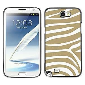 [Neutron-Star] Snap-on Series Teléfono Carcasa Funda Case Caso para Samsung Note 2 N7100 [ Motif Stripes animale]