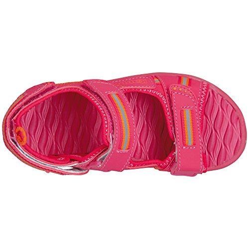 Kappa Unisex-Kinder Korfu Teens Sandalen Pink (2244 PINK/ORANGE)