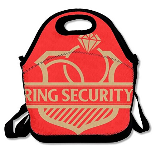 Ring Security (Ring Bearer) Lunch Handbag Lunchbox Tote Bags Insulated Cooler Warm Pouch With Shoulder Strap For Women Girls Kids Adults Teens by Unoopler