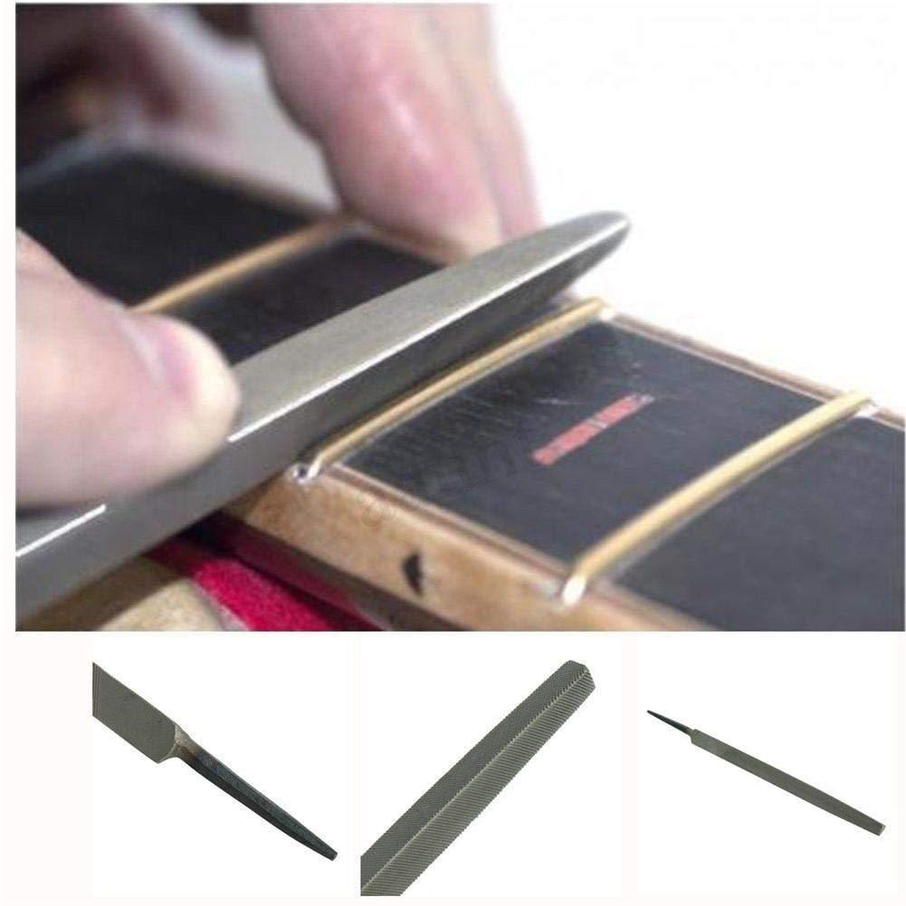 Beimaji Trade Lime de frette de Coin Lisse 3-Coin luthier Guitare Fin shabillant frette fichier pour Outil de r/éparation de Guitare