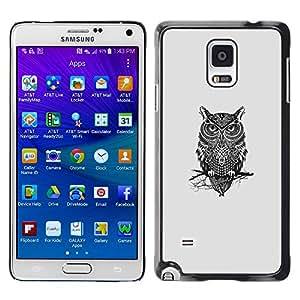 iKiki Tech / Estuche rígido - Gangsta Búho - Samsung Galaxy Note 4
