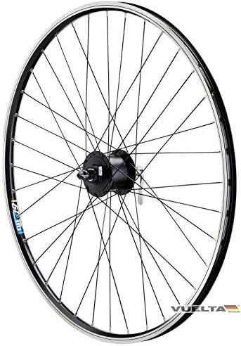 Vuelta 28 inch fiets loopfiets voorwiel holle velg Shimano naafdynamo DHC30003 met snelspanner zwart voor Vbrakesvelgrem