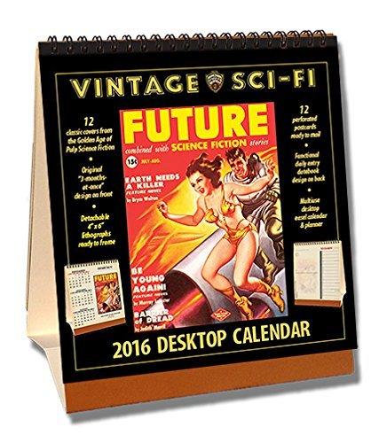 Sci-Fi 2016 Vintage Desktop Calendar by  - Maple Vintage Desk Shopping Results