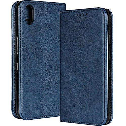 Android One S4/DIGNO J ケース 手帳型 HKkais 両面マグネット式磁気吸着 PUレザー 財布型カバー 全面保護 スタンド機能 横開き カード収納 ギフトボックス